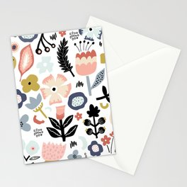 Naive Floral Scandinavian Design Stationery Cards