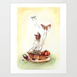 Pumpkin Pie Moths Art Print