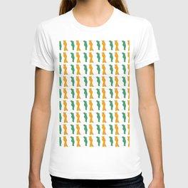 flag of ivory coast-africa,ivorian,ivoirian,cote d'ivoire,ivorien,abidjan,yamoussokro T-shirt