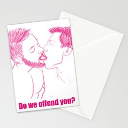 Gay kiss: Do we offend you? Stationery Cards