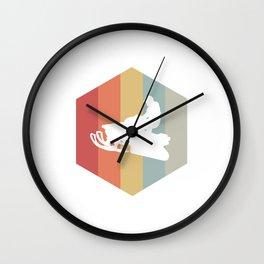 Retro Snowmobile Wintersport Sled Gift Idea Wall Clock