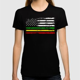 African American flag design Gift Africa Rasta Reggae Flag T-shirt