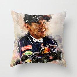 Sebastian Vettel Throw Pillow