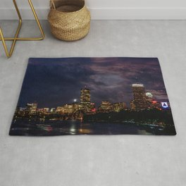 Boston at night Rug