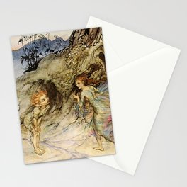 """""""Puck and a Fairy"""" by Arthur Rackham Stationery Cards"""