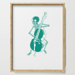 Contrabassist Instrumentalist Double Bass Skeleton Music Gift Serving Tray