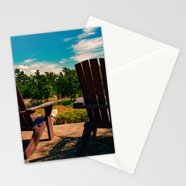 Muskoka chairs at the cottage Stationery Cards