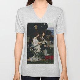 "John William Waterhouse ""Saint Cecilia"" Unisex V-Neck"