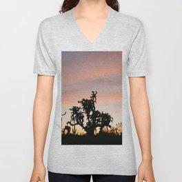 Desert Sunset Silhouettes Unisex V-Neck
