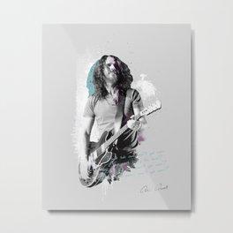 Chris Cornell, Chris Cornell poster, band print, Chris Cornell print, musician poster, portrait, music legends, gift Metal Print