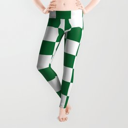Checkered (Dark Green & White Pattern) Leggings