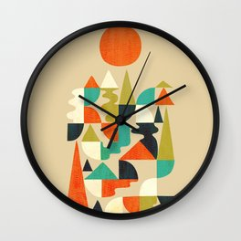 Mountains Hills and Rivers Wall Clock
