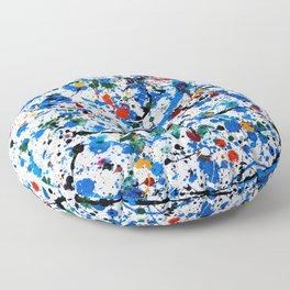 Frenzy in Blue Floor Pillow