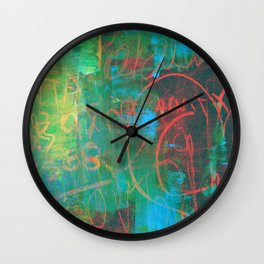Scribbled in Paint Wall Clock