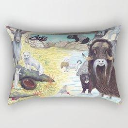 Arctic Tundra Animals Rectangular Pillow
