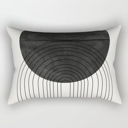 Line Art and Circle Rectangular Pillow