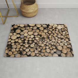 Wooden logs Rug