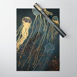 Metallic Jellyfish Wrapping Paper