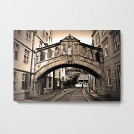 Hertford Bridge of Sighs Oxford England Metal Print