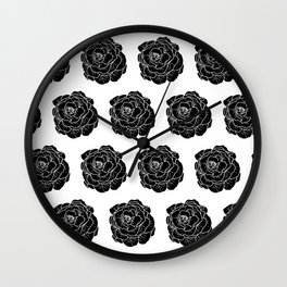 Lettuce Black Wall Clock