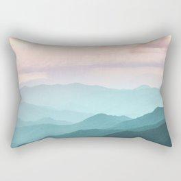 Smoky Mountain National Park Sunset Layers II - Nature Photography Rectangular Pillow