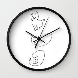 Retarded cats Wall Clock