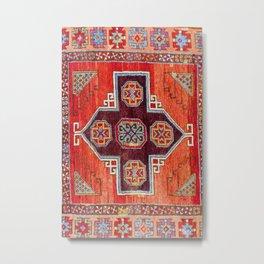 Obruk Konya Antique Turkish Long Rug Print Metal Print