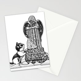 Mourning Grave Stationery Cards