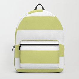 VA Lime Green - Lime Mousse - Bright Cactus Green - Celery Hand Drawn Fat Horizontal Lines on White Backpack