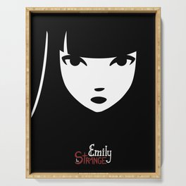 Emily the Strange: Emily's face Serving Tray