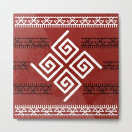 Mudcloth Tribal Pattern Metal Print