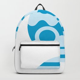 Minimalism Blue Jupiter Badge Backpack