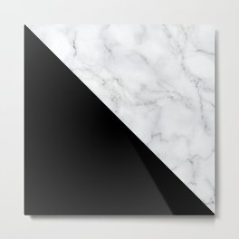 Marble, Stone, Color Block, Minimal Art Metal Print