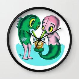 Humans & Fishies Wall Clock