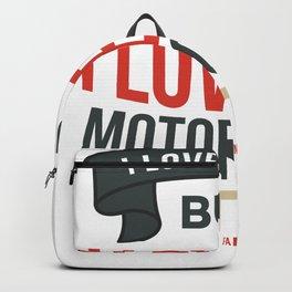 Motorcyclist biker motorcycle gift Backpack
