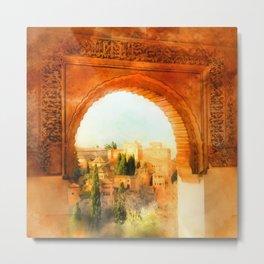 Granada, Alhambra Metal Print