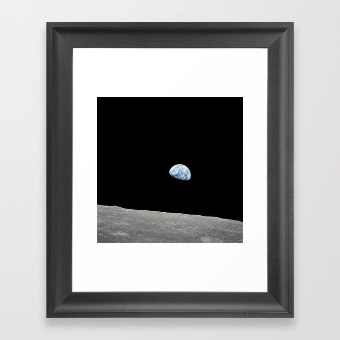Apollo 8 - Iconic Earthrise Photograph Gerahmter Kunstdruck