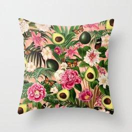 Avocado Summer pattern Throw Pillow
