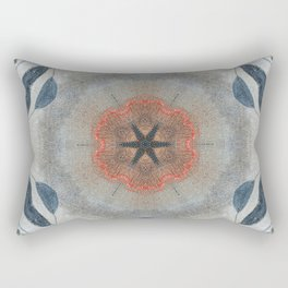 Bushfire Gum Medallion 10 Rectangular Pillow
