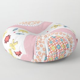 Rainbow No. 6 - papers collage nice dreams tile pattern Floor Pillow