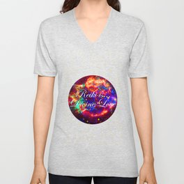 Reiki is Divine Love | The Energy it Flows | Going with the Flow Unisex V-Neck