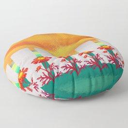 Sunset Marigolds Floor Pillow