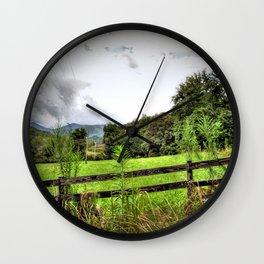 Ranch Landscape Wall Clock