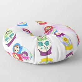 Adorable Russian Dolls Floor Pillow