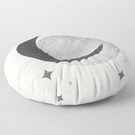 Moon Sparkle BW - Celestial Floor Pillow