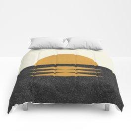 Sunset Geometric Midcentury style Comforters