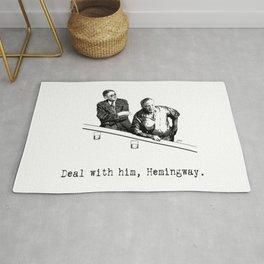 James Joyce x Ernest Hemingway - Drunken Shenanigans Painting Rug