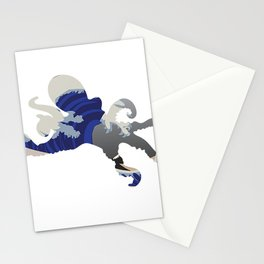 Octopus in Waves Stationery Cards