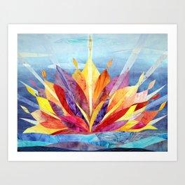 Sunrise quilt Kunstdrucke