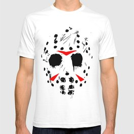 Classic Horror Movie mask of Jason Voorhees  T-shirt